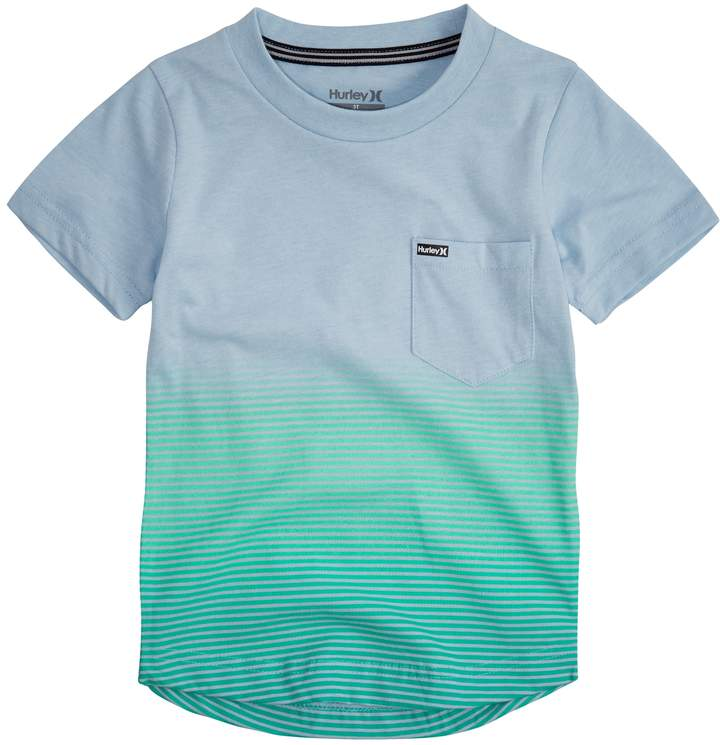 Toddler Boy Ombre Striped Pocket Tee