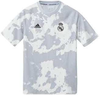 adidas Boys White Real Madrid Pre T-Shirt - Gold