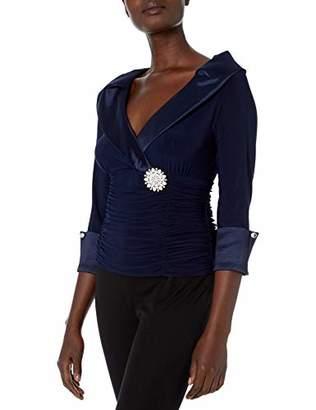 Ronni Nicole Women's Portrait Collar top