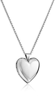 Sterling Heart Locket Pendant Necklace