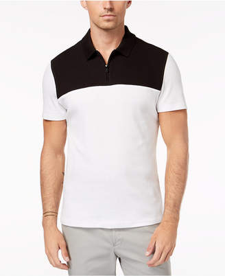 Alfani Men's Textured Colorblocked Polo, Created for Macy's