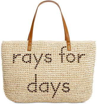 Style & Co Rays for Days Straw Beach Bag Tote, Only at Macy's $48.50 thestylecure.com