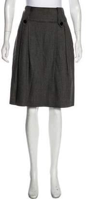 Temperley London Knee-Length Wool-Blend Skirt