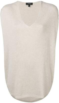 Theory cashmere V-neck knitted top