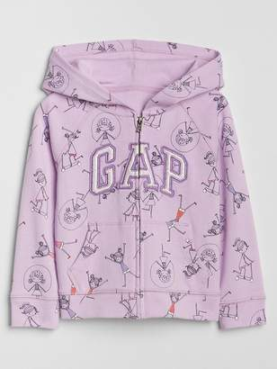 Gap Print Logo Hoodie in French Terry
