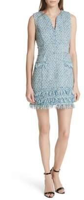 Milly Tweed Sleeveless A-Line Dress