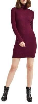 Miss Selfridge Ribbed Turtleneck Sweater Dress
