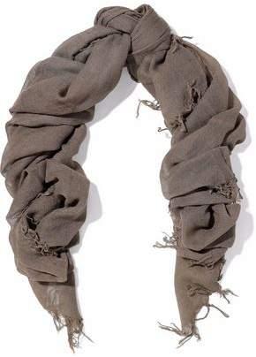 Chan Luu Fringe-Trimmed Cashmere And Silk-Blend Gauze Scarf
