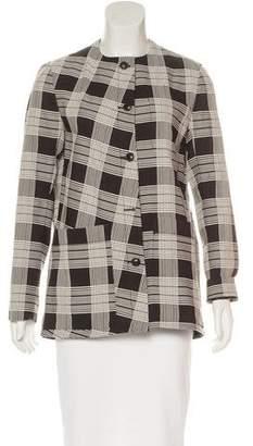 Maiyet Plaid Collarless Jacket