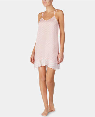 Betsey Johnson Strappy Ruffle-Hem Chemise Nightgown