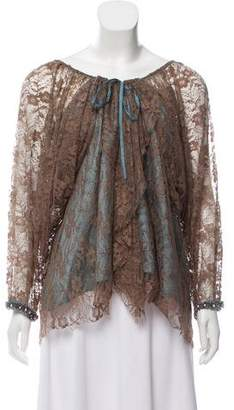Kenzo Embellished Lace Top