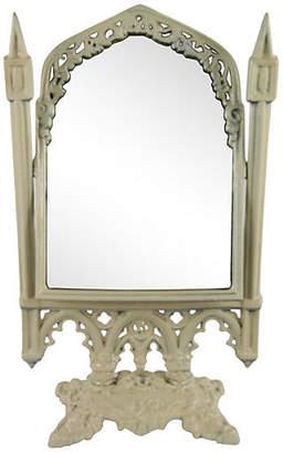 One Kings Lane Vintage Swivel Tabletop Mirror - brunelli designs inc