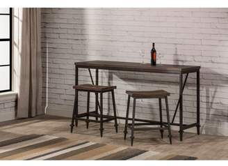 Hillsdale Furniture 3pc Trevino Counter Height Table Set Brown/Copper Metal