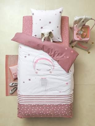 Reversible Duvet Cover & Pillowcase, Lil Dreamer Theme - white/light violet