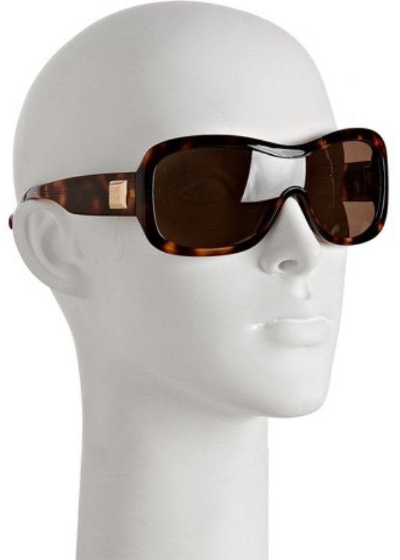 Givenchy brown plastic tortoise print crystal detail sunglasses