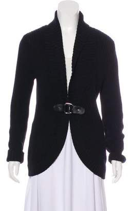 Lauren Ralph Lauren Knit Collarless Cardigan