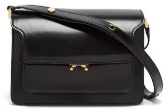 Marni Trunk Medium Leather Shoulder Bag - Womens - Black