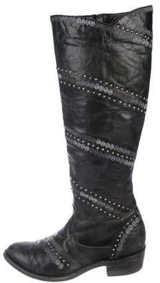 Old Gringo Studded Leather Knee-High Boots
