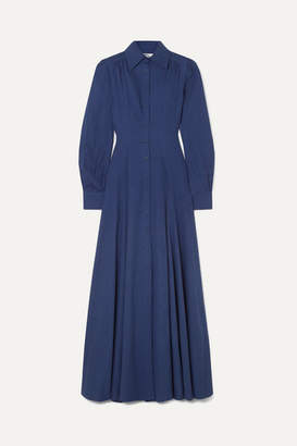 Evi Grintela Jasmine Cotton-chambray Maxi Dress - Blue