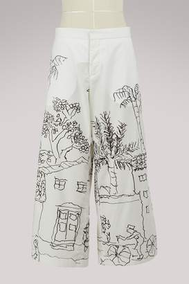 Marni Wide-leg cropped pants