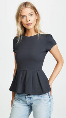 Susana Monaco Kiki Short Sleeve Peplum Top