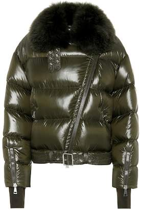 Moncler Foulque fur-trimmed down jacket