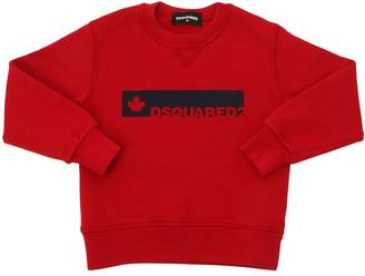 DSQUARED2 Leaf & Logo Printed Cotton Sweatshirt