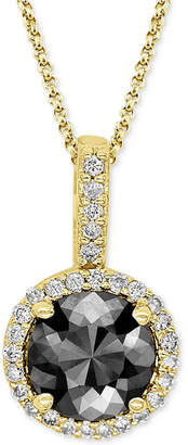 Macy's Diamond Pendant Necklace (1 ct. t.w.) in 14k Yellow, White or Rose Gold