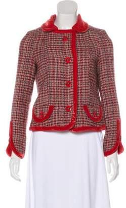 Marc Jacobs Wool Tweed Jacket Red Wool Tweed Jacket