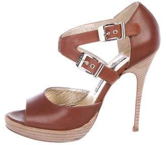 Luciano Padovan Leather Platform Sandals