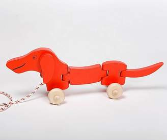 Natural Gift Store Dachshund Dog Pull Along Toy