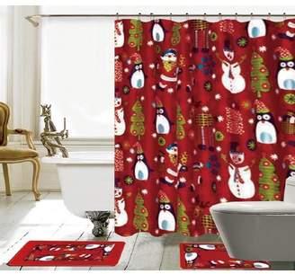 The Holiday Aisle 15 Piece Christmas Shower Curtain Set