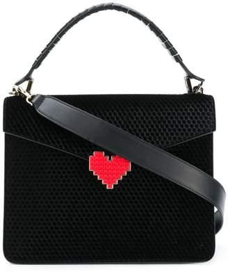Les Petits Joueurs perforated heart plaque bag