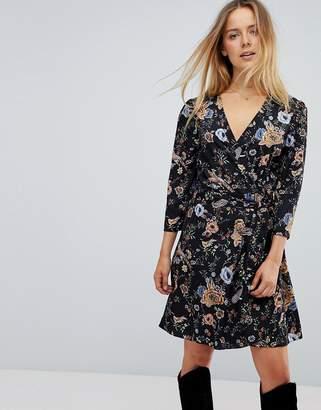 Liquorish Floral Wrap Dress