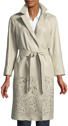 Lafayette 148 New York Delcy Embroidered Trench Coat