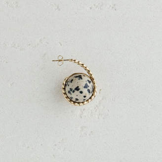 Maje Right earring with natural stone