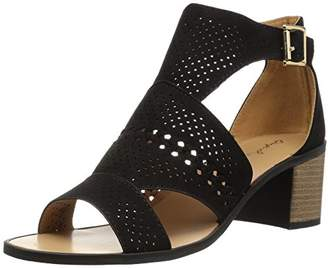 Qupid Women's Wood Heel Heeled Sandal
