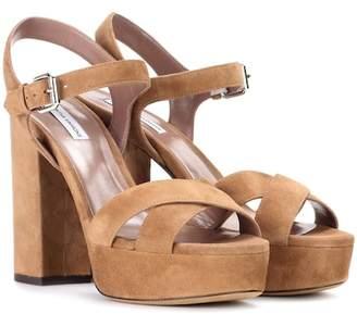 Tabitha Simmons Debbie suede plateau sandals