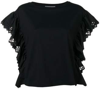 Alberta Ferretti ruffle sleeve blouse