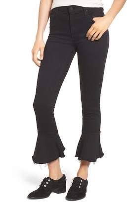 Mother The Cha Cha Fray Flare Crop Jeans (Not Guilty)