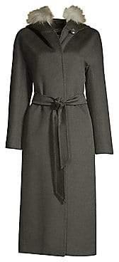 Cinzia Rocca Women's Golden Fox Fur-Trim Hooded Coat