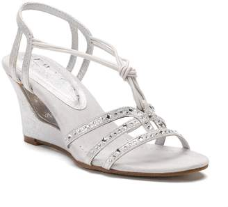 New York Transit News To Me Women's Strappy Wedge Sandals