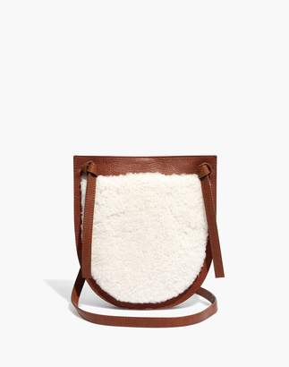 Madewell The Knot Crossbody Bag in Shearling