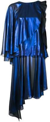 Rob-ert Robert Wun foiled effect dress