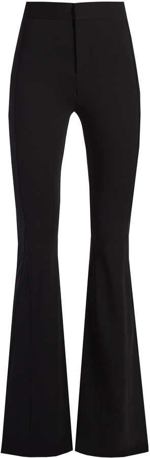 Givenchy GIVENCHY High-rise flared cady trousers