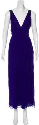 CNC Costume National Pleated Maxi Dress