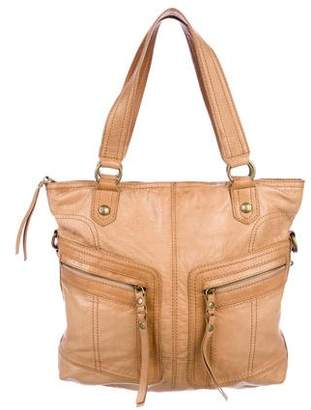 Andrew Marc Grained Leather Satchel
