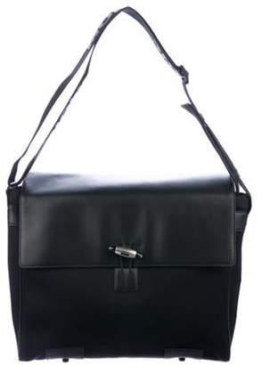 Montblanc Leather-Trimmed Messenger Bag black Leather-Trimmed Messenger Bag