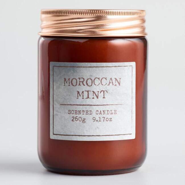 Moroccan Mint Tea Glass Jar Candle