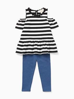 Kate Spade Babies stripe cold shoulder legging set